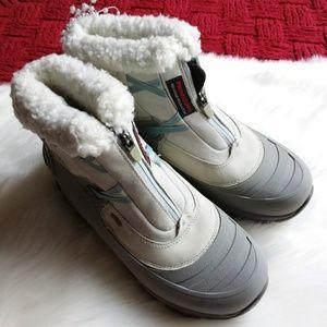 Merrill | Grey Winterlude Zip Waterproof Boots